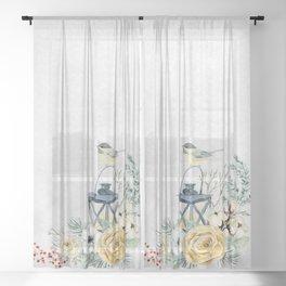 Christmas Morning 4 Sheer Curtain