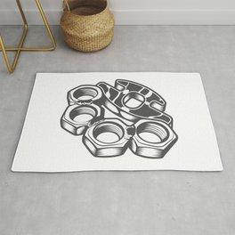 "Fashion Modern Design Print ""Brass Knuckles""! Rap, Hip Hop, Rock style and more Rug"