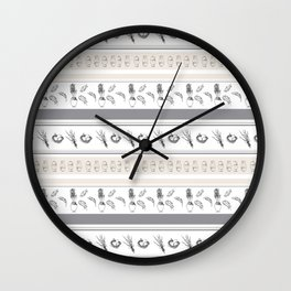 Lineal Bunnies Wall Clock