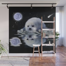 Destiny - Harp Seal Pup & Ice Floe Wall Mural