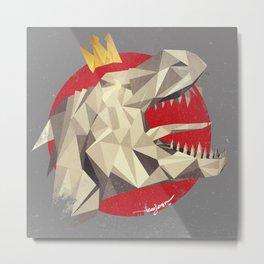 GodzillaSaurus-Rex Metal Print