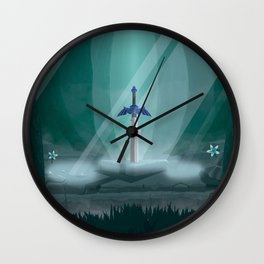 Lost Woods Travel Poster Wall Clock