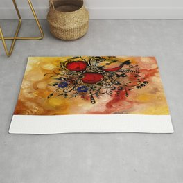 Abstract Acrylic Painting APPLES Rug
