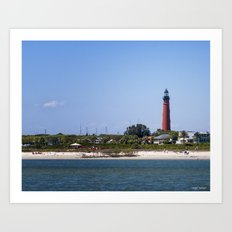 Sunny Day at Ponce Inlet Art Print