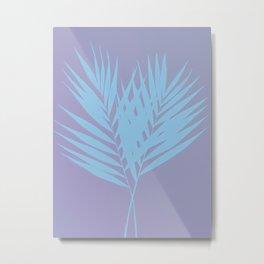 Palm Leaves #3 #Lilac #Blue #decor #art #society6 Metal Print