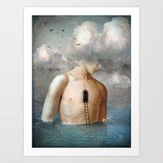 the door to the clouds Art Print