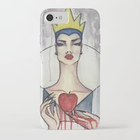 evil queen iPhone & iPod Cases featuring Evil Queen by Estrela de Papel