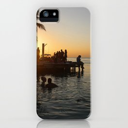 Caye Caulker Sunsets iPhone Case