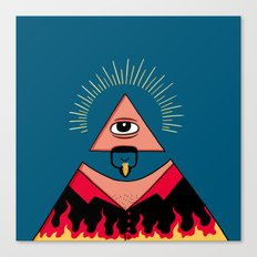 The All Seeing Eye Fieri  Canvas Print