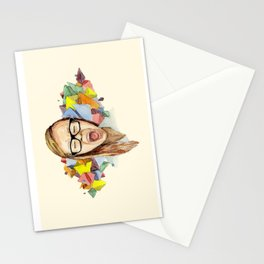triangle madness Stationery Cards