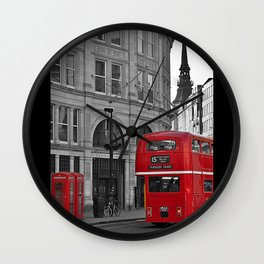 London Bus & Telephone Boxes. Wall Clock