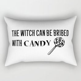 Bribe the Witch Rectangular Pillow