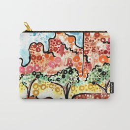 UTAH ART PAINTING Zion National Park Zions desert landscape watercolor Southwest southern Utah stickykitties Carry-All Pouch