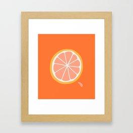 Grapefruit Slice Framed Art Print