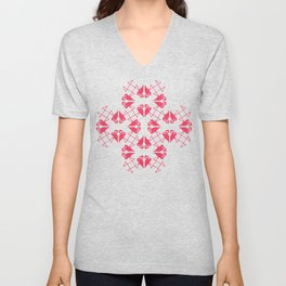 Flamingo Hearts Unisex V-Neck