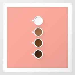 Coffee + Simplicity Art Print
