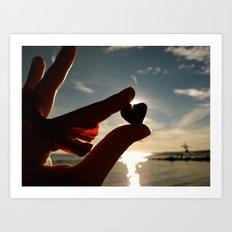 A Heart for the Sun Art Print
