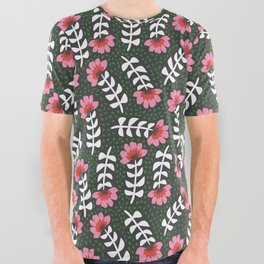 Camelita Retro Folk Flower All Over Graphic Tee