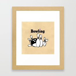 Love Bowling Illustration Framed Art Print