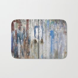 Port Lligat painted door (Salvador Dalì house) Bath Mat