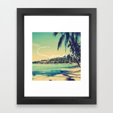 Summer Love Vintage Beach Framed Art Print