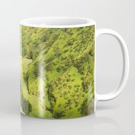 lime green landscape Coffee Mug