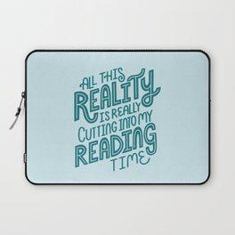 Reality Vs. Reading Blue Laptop Sleeve