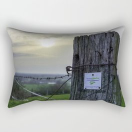 Teutoschleifen Tecklenburger Bergpfad Sign 2 bokeh Rectangular Pillow