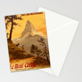 1900 Le Mont Cervin Advertisement Poster Stationery Cards