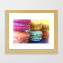Macaron Rainbow 1 Framed Art Print