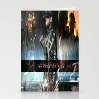metal gear solid Stationery Cards featuring metal gear solid V  , metal gear solid V  games, metal gear solid V  blanket, by Eirarose