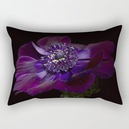"Anemone Coronaria de Caen ""Bordeaux"" Rectangular Pillow"