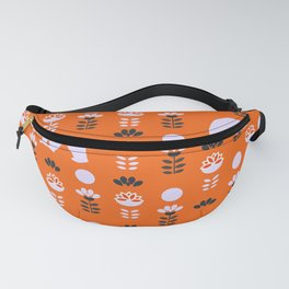 White bears and happy flowers Fanny Pack