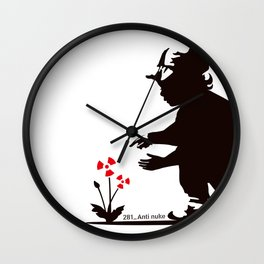 Spring is not welcome Wall Clock
