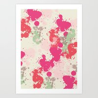 splatter Art Prints featuring Splatter by C Designz