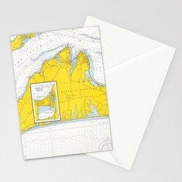 Vintage Map of Martha's Vineyard (1967) Stationery Cards