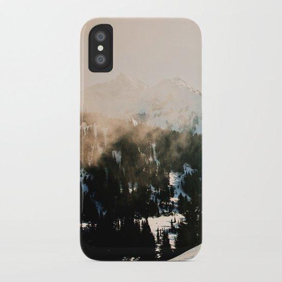 Winter Mountain Hike iPhone Case