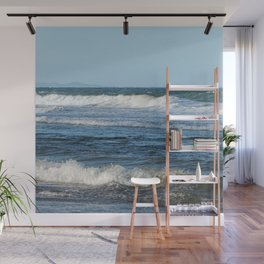 Waves and distant headlands in Queensland, Australia Wall Mural