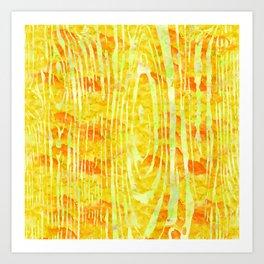 Yellow Wood Print Art Print