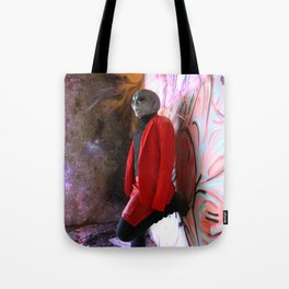 Alien woman portrait Tote Bag
