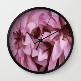Just The Two Of Us - Painterly Dahlias Wall Clock