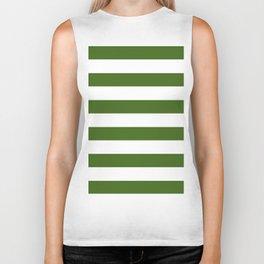 Simply Stripes in Jungle Green Biker Tank
