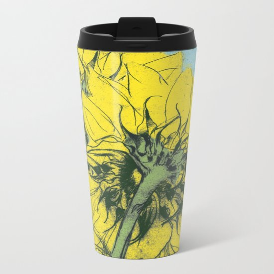 The sunflowers moment Metal Travel Mug