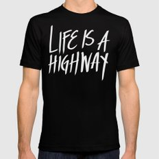 Life Is A Highway X-LARGE Mens Fitted Tee Black