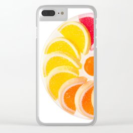 multicolored chewy gumdrops sweets Clear iPhone Case