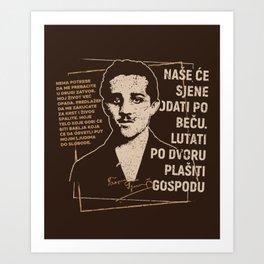Gavrilo Princip Art Print