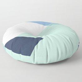 Geometrics - seafoam & blue concrete Floor Pillow