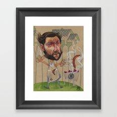 LOGAN'S BBQ Framed Art Print