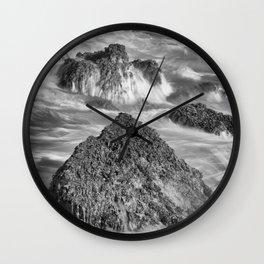 Around the Rocks Wall Clock