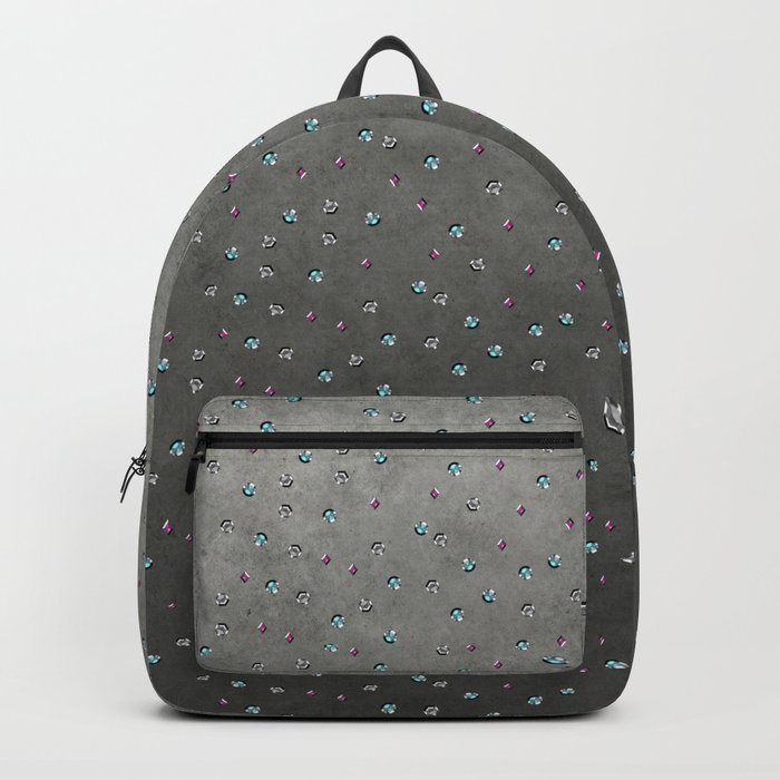 Colorful shimmering faux sequin glamour pattern Backpack
